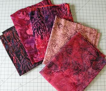 batik fabric for seaside wall hanging
