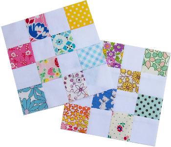 checkerboard quilt block 16 patch blocks