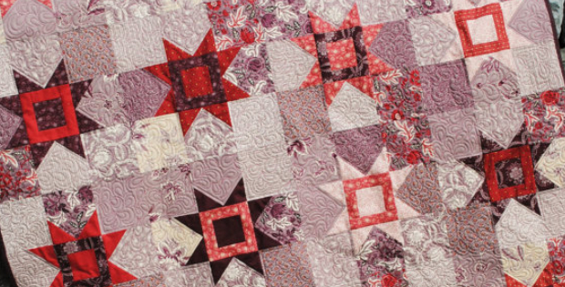 fat quarters eight point star quilt pattern