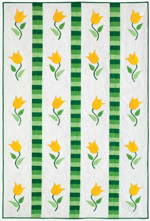 flower quilt tulip twist free pattern