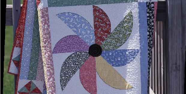 pinwheel flurry black eyed susan quilt pattern