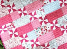 pinwheel quilt pattern Dear Stella Flirt fabric collection
