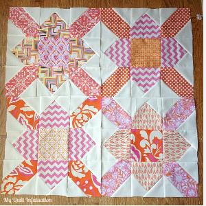 quilt block form a figure eight