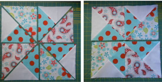 quilt blocks for pinwheel in the park quilt pattern