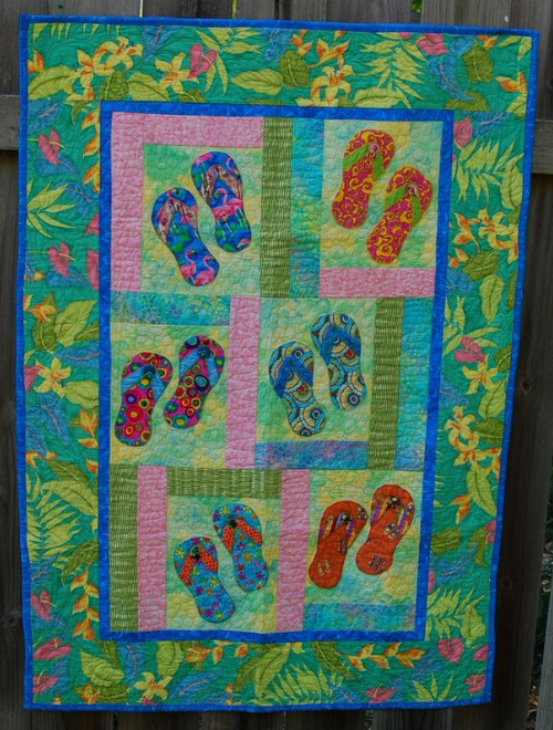 d29c8e2a089e Flip Flops Wall Quilt To Make And Gaze At Some Paradise On Your Wall ...