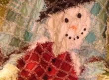 snowman rag quilt