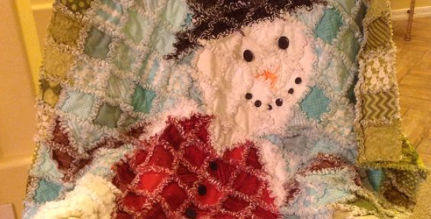 Make The Raggliest Snowman Rag Quilt Ever Quilting Cubby