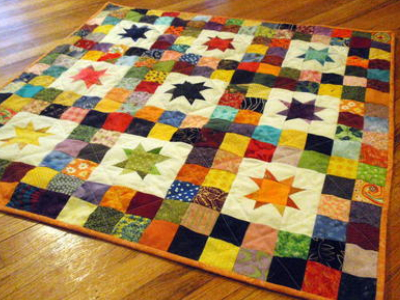 Twinkle Star Baby Quilt Vibrant Colors And Simple Shapes ... : star baby quilt - Adamdwight.com