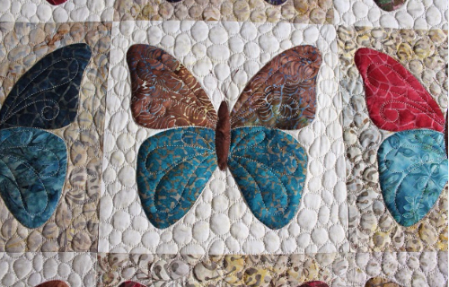 Butterfly quilt in Batik fabric