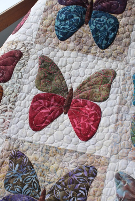 Laundry Basket Butterfly quilt pattern