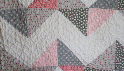 pretty-quilting-on-chevron-baby-quilt