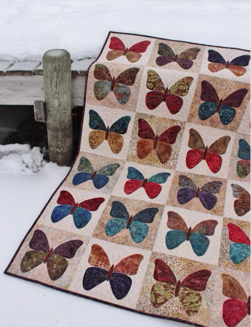 butterflies quilt pattern Laundry Basket