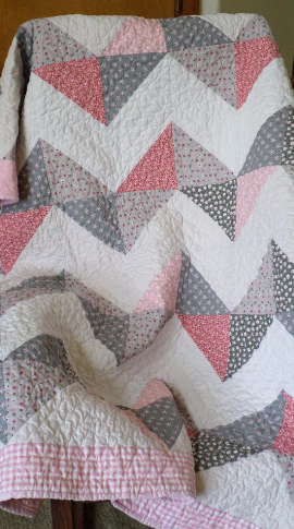 Chevron Baby Quilt Triangle Free For Easy And So Pretty In Pink