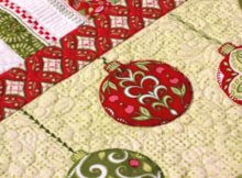 holiday-table-runner-holiday-fabric-fussy-cut-baubles