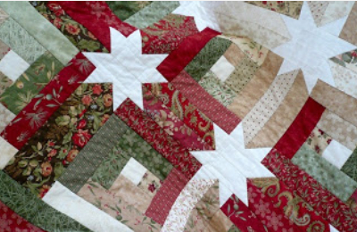 Timeless Log Cabin Quilt With Hidden Stars In The Sashing ... : log cabin hidden stars quilt pattern - Adamdwight.com