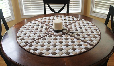 Round Table Placemats.Merry Go Round Placemats For The Quaintest Table Setting Quilting