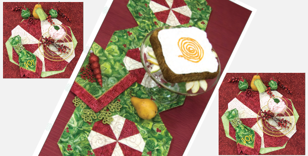 peppermint pinwheel table runner placemats and napkins for your holiday table - Christmas Placemats And Napkins