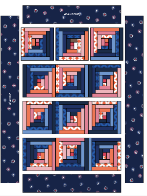 quilt-assembly-for-a-log-cabin-quilt-table-topper