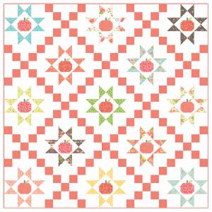 apple-quilt-using-fabric-scraps