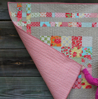 Charm Square Cheat Baby Quilt With Cozy Flannel Backing – Quilting ... : flannel quilt backing - Adamdwight.com