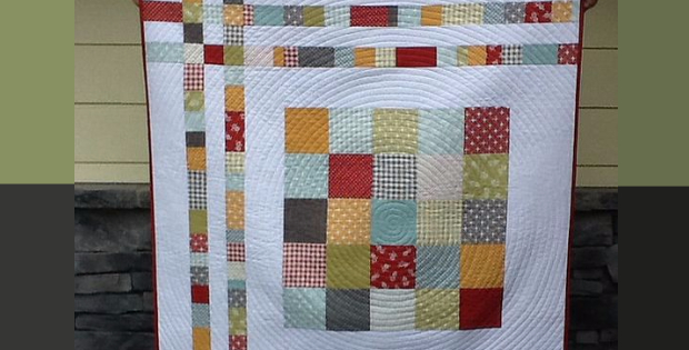 Charm Square Cheat Baby Quilt With Cozy Flannel Backing – Quilting ... : baby quilt backing - Adamdwight.com