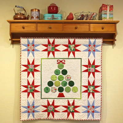 Christmas Tree Wall Hanging That Sparkles With Stars And