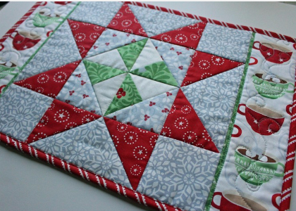 Pinwheel Stars Placemats And Candy Binding For Your