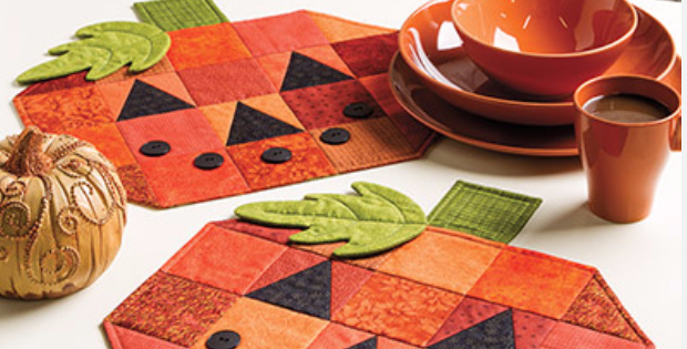 Pumpkin Placemats And Table Runner Last Minute Projects