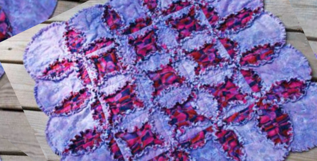 New And Exciting Cathedral Window Rag Quilt – Quilting Cubby : cathedral window rag quilt - Adamdwight.com