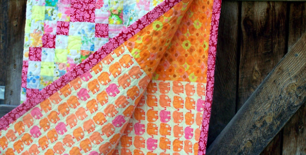Scrappy Trip Around The World Quilt A Vintage Delight Quilting Cubby