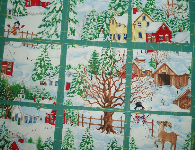 Winter Scene Christmas Windows Wall Hanging So Realistic