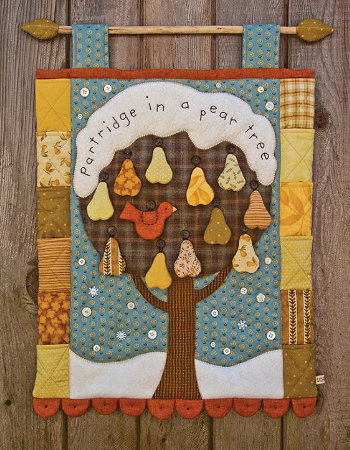 Partridge In A Pear Tree Christmas Wall Hanging Quilting Cubby