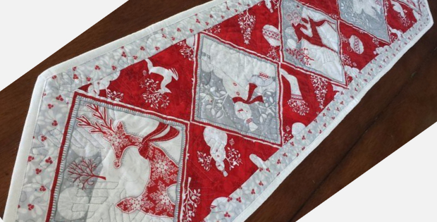 Holiday Frost Reindeer Panel Fabric For Quick Christmas Quilts