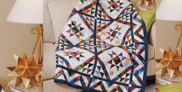 Batik Fabric Scraps Turns Into A Beautiful Scrappy Triangles Quilt ... : batik fabric quilt patterns - Adamdwight.com