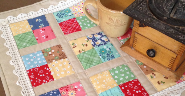 Coffee Time Quilt For Your Next Table Mat – Quilting Cubby : quilt mat - Adamdwight.com
