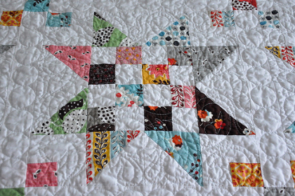 Kona White With Your Fabric Scraps For This Scrappy Star