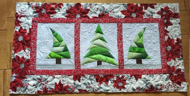 Christmas Trees Mini Quilt Table Runner Or Display On The