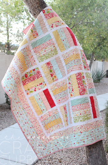 Jelly roll baby quilt for beginners