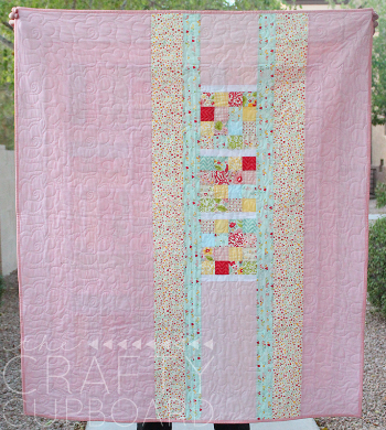 baby quilt jelly roll backing