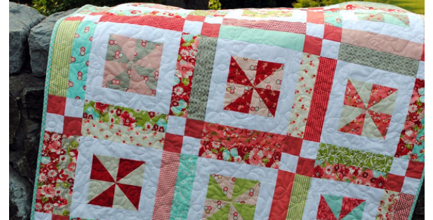 Lemonade Lollipop Layer Cake Quilt For Baby Giggles And Gurgles