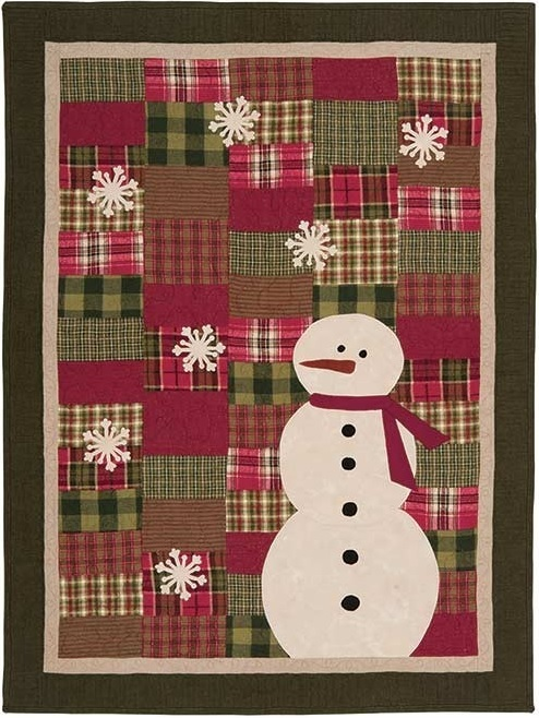 Storm Watcher Snowman Quilt To Snuggle And Watch The Snowflakes