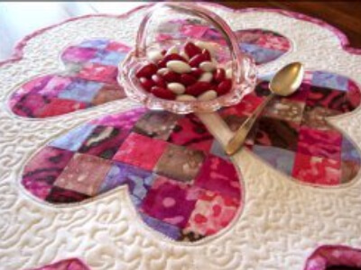 Valentine Table Topper Merry Go Round Of Hearts Romance Is