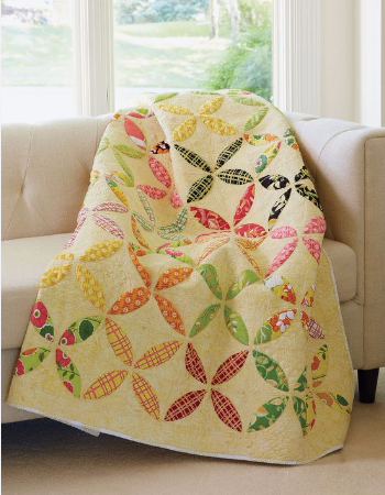 Citrus quilt for spring Orange Peel quilt pattern