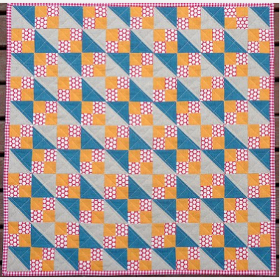 Doll Quilt Jacobs Ladder Pretty In Patchwork