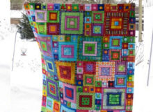 Glorious Patchwork Jewel Square quilt Crazy Squares runner Kaffe Fasset