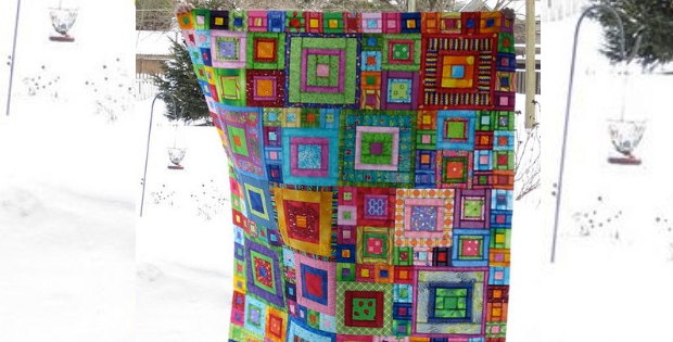 Jewel squares quilt and crazy squares runner your splash of creative glorious patchwork jewel square quilt crazy squares runner kaffe fasset maxwellsz