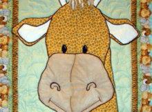 Jungle Babies Giraffe baby quilt
