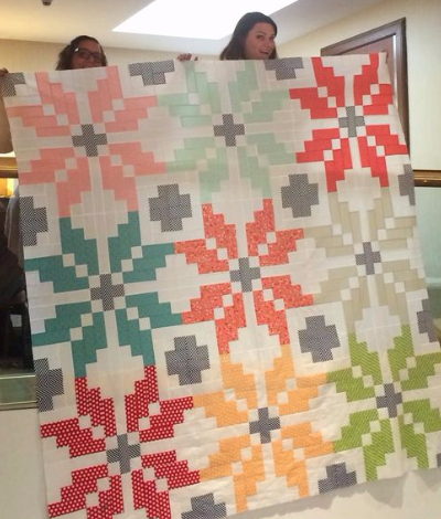 Create The Perfect Wintry Scene With This Two Color Norway Quilt