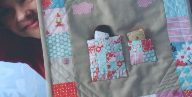Pretty In Patchwork Doll Quilt