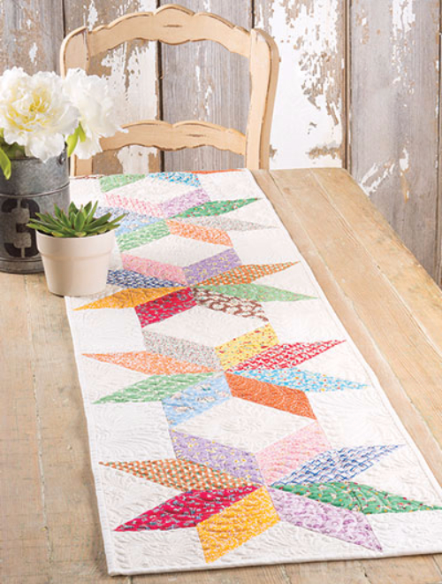 Colorful And Bright Table Runner Made Easy With Charm